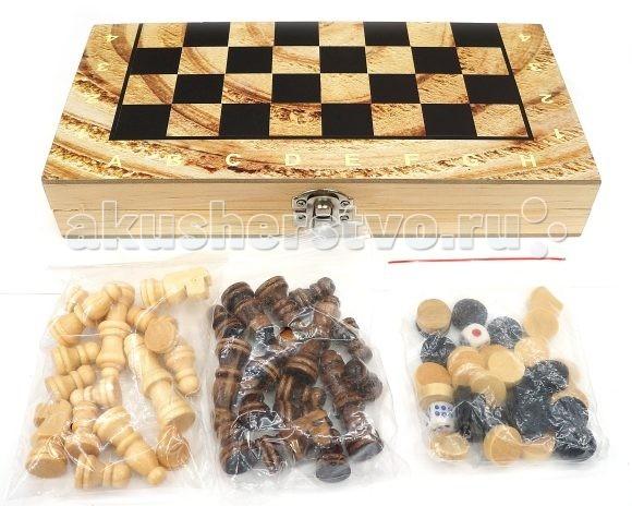 Shantou Gepai Шахматы 3 в 1 W3418-4Шахматы 3 в 1 W3418-4Shantou Gepai Шахматы 3 в 1 (шахматы, шашки, нарды).  Данный набор представляет собой расширенную версию своего предшественника. Теперь он сочетает в себе такие игры, как шахматы, шашки и нарды.  Это компактное и оптимальное сочетание 3 игр в одной упаковке. С таким арсеналом ребенок точно найдет чем себя занять не только ради развлечения, ведь играя в подобного рода настольные игры развивается внимательность, память и логика.  Покупка комплекта станет удачным приобретениеим, если родители желают, чтобы малыш почаще отвлекался от компьютера и увлекался старыми-добрыми играми, проверенными годами.  Поле: 34х34 см<br>