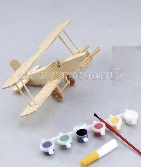 Mapacha Модель Биплан с краскамиМодель Биплан с краскамиMapacha Модель Биплан с красками   Внутри этой коробочки - маленькая мастерская! А в этой мастерской есть все необходимое для создания яркой замечательной игрушки.   Задача юного мастера - собрать и склеить из деревянных деталей модель биплана. Но это еще не все! Помимо клея в набор входят специальные краски и настоящая кисточка: биплан можно еще и раскрасить!  Размеры: 25 X 3 X 20 см<br>