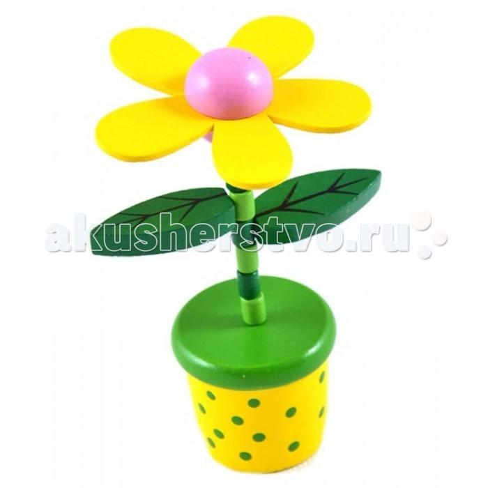 Деревянная игрушка Mapacha Танцующий цветокТанцующий цветокИгрушка Танцующий цветок Mapacha сделана из натурального дерева. Яркая и красочная, она подарит малышу тепло и энергию природы.  Это порадует ребенка и он захочет потанцевать вместе с ним. Особенности:  игрушка с пружинным механизмом  для того, чтобы цветочек согнулся, необходимо нажать снизу на кнопку  Размеры: высота игрушки- 20 см Размер упаковки: 8 см X 3 см X 20 см Вес: 40 гр<br>