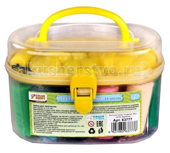 Color Puppy Тесто для лепки 14 цветовТесто для лепки 14 цветовColor Puppy Тесто для лепки 14 цветов имеет в составе пищевые ингредиенты: муку, соль, воду, пищевые красители. Безопасное для детей. Не прилипает к рукам, одежде, поверхностям. Очень мягкое и пластичное. Без ароматизаторов. Подходит для начинающих маленьких скульпторов.  Особенности: Занятие лепкой способствует воспитанию усидчивости, развивает пространственное мышление, фантазию и мелкую моторику рук.  Известно, что дети с недостаточно развитой моторикой испытывают трудности в обучении: быстрее устает рука, не получается правильное написание букв.  Занятия лепкой помогут избежать подобных проблем.  В комплекте: тесто для лепки из 14 цветов - 205 г. формочка ролик  Цвета в ассортименте<br>