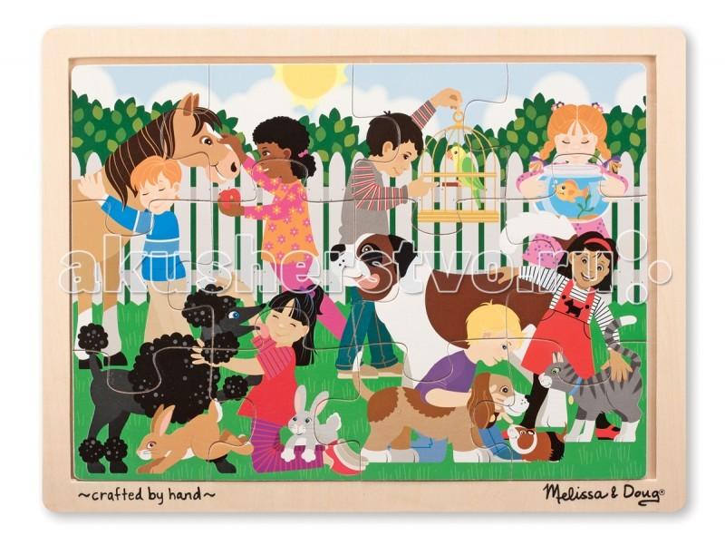 Деревянная игрушка Melissa & Doug Пазл Домашние животные 9069M