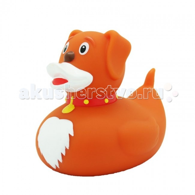 LiLaLu Игрушка для купания Уточка собакаИгрушка для купания Уточка собакаLaLuLi Уточка собака.  Уточки среди водоплавающих игрушек всегда занимали почетное лидирующее место. Трудно выдумать что-то новое в этом море желтого очарования. Вот разве что наделить каждую игрушку своим характером и образом. Трогательные, яркие, забавные резиновые уточки наверняка понравятся малышам. С ними можно купаться, использовать в повседневных играх, как на улице, так и дома.  Устраивайте импровизированный театр, изучайте профессии, учитесь считать, придумывайте вместе с ребенком истории, а уточки сделают процесс обучения более радостным и увлекательным. Размер уточек 8*8 см. Они рекомендованы детям с 3 лет, но под присмотром взрослых их можно использовать с пеленок.Даже взрослых эти прикольные уточки заставят улыбнуться. Причем каждый покупатель выберет из представленного ряда забавных образов тот, который он сможет подарить друзьям или коллегам, для того что бы поднять им настроение.  Уточки любят компанию, и вы сможете подобрать к каждому образу целую серию на все случаи жизни: скейтбордист, байкер, футболист, дайвер, ныряльщик, музыкант, жених с невестой и детки, семья эскимосов, уточка, которая поздравляет с днем рождения и много других. Из серии профессии: утка-доктор, утка-медсестра, утка-пожарный, -повар, -пекарь, -следопыт, -ученый, -пилот и стюардесса.  Киношные и мультяшные персонажи: резиновая уточка пчелка Майя и Вилли, Спиди-гонщик, Принцесса лягушка, пираты, рыцари, Дракула, Скелет, Шерлок Холмс, семья уток Супергероев, Спайдермэн и утка-Бэтмен.Утки в виде животных и даже цветов: Божья коровка, Буренушка, Кошка и утка-подсолнух. Большие уточки 23 см выглядит эксклюзивно и восхитительно. С такой, почти настоящей по размеру уткой можно купаться не только в ванной, а также в домашнем бассейне или пруду.Уточки изготовлены из безопасных материалов. На воде держатся ровно, голова не перевешивает, на бок не заваливаются. При нажатии издают негромкий пищащий звук.  Описание тов