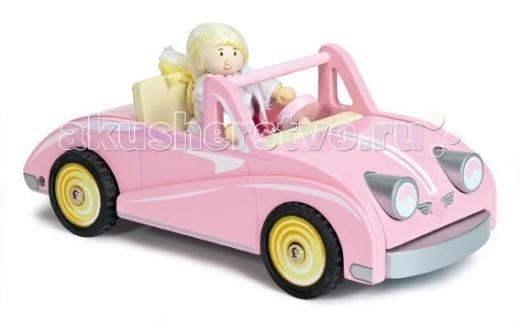Деревянная игрушка LeToyVan Автомобиль-купе Хлои с куклой