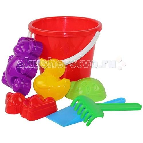Альтернатива (Башпласт) Набор для игры с песком Зоопарк №2