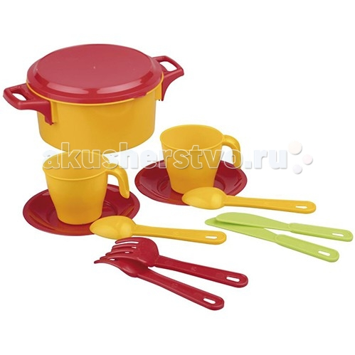 Альтернатива (Башпласт) Набор детской посуды Хозяйка 2226М