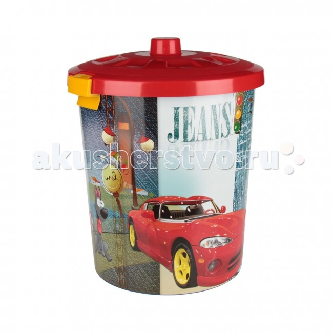 Альтернатива (Башпласт) Контейнер для игрушек Гонки 40 л