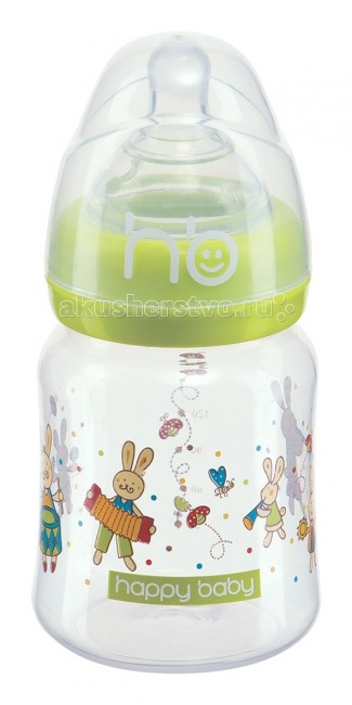 Бутылочка Happy Baby Funny bunny для кормления 150 мл