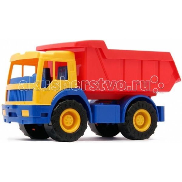 Нордпласт Грузовик ЗубрГрузовик ЗубрИгрушка, выполненная в ярких цветах, обладает особой прочностью.  У грузовика удобная кабина, вместительный кузов, крепкие колеса, малышу будет удобно его катать.  Изготовлено из высококачественной пластмассы.  Размеры 54 X 24 X 28 см<br>