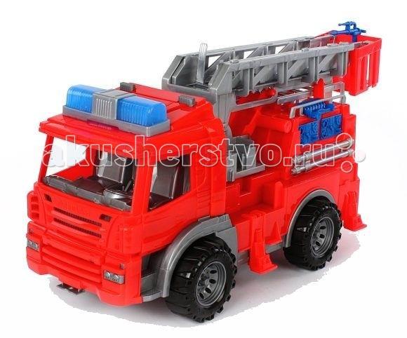 Нордпласт Пожарная машина СпецтехникаПожарная машина СпецтехникаСерия машин спецтехники. Колеса машины крутятся, машина снабжена подвижными элементами.  Пожарная машина с выдвижной лестницей. Играя с подобными машинками, ребенок знакомится с различной спецтехникой и ее предназначением.  Машинку удобно катать. Играя с машинкой, малыш развивает координацию движений и моторику рук.  Малышу будет доволен новой прочной машиной, которая прослужит очень долго.  Изготовлено из высококачественной пластмассы.  Размеры 49 X 20 X 24 см<br>
