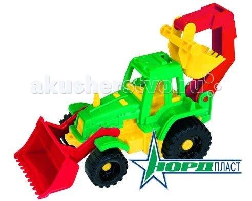 Нордпласт Трактор Ижора с грейдером и ковшомТрактор Ижора с грейдером и ковшомИгрушка, выполненная в ярких цветах, обладает особой прочностью. У машины крутятся колеса, имеются подвижные элементы.  Машинку удобно катать. Играя с машинкой, малыш развивает координацию движений и моторику рук.  Малышу будет доволен новой прочной машиной, которая прослужит очень долго.  Изготовлено из высококачественной пластмассы.  Размеры 22 X 11 X 13 см<br>