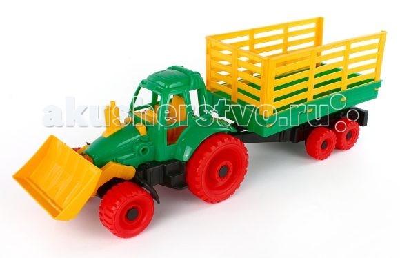 Нордпласт Трактор с грейдером и прицепом
