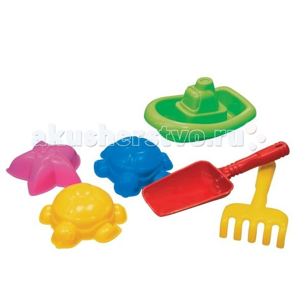 Нордпласт Набор для песка №29Набор для песка №29Набор для песка №29  В наборе 3 формочки, кораблик, совочек и грабельки.  Все предметы набора имеют гладкую поверхность, ими приятно и безопасно играть.   Игры в песке способствуют развитию мелкой моторики и фантазии ребенка.   Изготовлено из высококачественной пластмассы.<br>