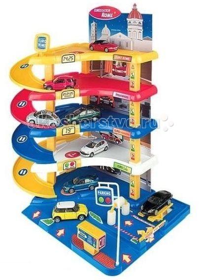 Нордпласт Гараж Автопарковка-1Гараж Автопарковка-1Игровой набор Гараж Автопаркинг-1 – это интересный, развивающий яркий игровой набор высокого качества. Такой замечательный набор будет интересен и полезен как самым маленьким детишкам, которые только начинают изучать и осваивать мир вокруг себя, так и детям постарше. Яркий игровой набор, выполненный в красных, желтых и синих тонах, безусловно, доставит море веселья и радости Вашему малышу. С таким замечательным игровым набором каждый ребёнок почувствует себя в роли настоящего водителя.  Детализировано проработанная 5-ти уровневая современная парковка обязательно привлечет внимание Вашего малыша, заинтересует его к игре и станет его любимой игрушкой. В наборе представлены все необходимые детали, для сборки 5-ти этажного открытого гаража для стоянки автомашин, каждый уровень которого имеет свой цвет.  На 1-ом этаже – электронная касса с билетами;  На 2-ом этаже - автомойка - крутятся валики, когда сквозь них проезжает авто. На 3-ем этаже находится заправочная станция. На 4-ом этаже – стоянка. На 5-ом – парковка с вертолетной площадкой.  На башне указаны время, дата, температура воздуха (имитация - наклейки). Шлагбаум поднимается и опускается (механическое управление) .  Автопаркинг оборудован спиральными спусками для выезда машинок из гаража. Машинки в набор не входят.   Игровой набор Гараж Автопаркинг – 1 станет прекрасным подарком Вашему малышу, который будет способствовать развитию мелкой моторики рук, фантазии, воображения, творческого потенциала, коммуникативных способностей и познавательной активности. Игрушка прекрасно подходит для различных сюжетно – ролевых игр.  Комплектность: Детали для сборки гаража Иллюстрации на картоне Наклейки Инструкция – 1 шт.<br>