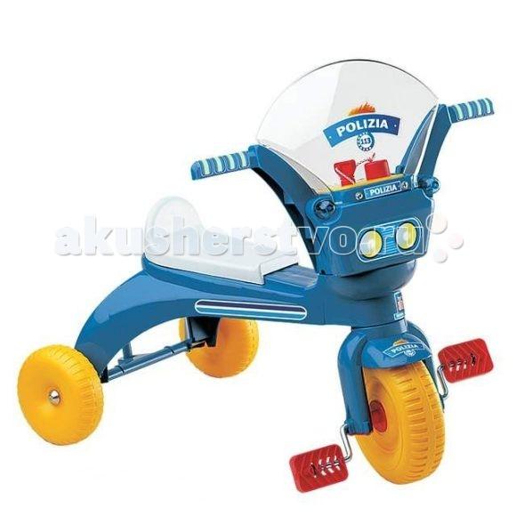 Велосипед трехколесный Нордпласт ПолицияПолицияВелосипед Полиция синий 431009/06263  Легкий велосипед с длинным сидением и короткой спинкой. Сиденье можно закрепить в зависимости от роста ребёнка. На панели управления сигнал и ключ-трещотка зажигания.  Основные характеристики: пластиковые колеса пластиковый корпус длинное сиденье с низкой спинкой и нескользящими вставками педали с рифленой поверхностью есть пищалка-гудок пластиковое лобовое стекло высота сиденья от пола – 27 см, длина сиденья – 57 см.  на руле есть фары и пищалка-гудок, прозрачное лобовое стекло для сходства с мотоциклом переднее колесо (25.4 см) больше по размеру, чем задние, благодаря чему нагрузка на ножки ребенка будет минимальна, и он сможет кататься на велосипеде достаточно долго  Сзади сиденье имеет подъем, чтобы малыш не мог соскользнуть во время катания. Большая длина сиденья с нескользящими вставками позволяет ребенку самому выбрать наиболее удобное положение для катания.  Пока ножки у него короткие, он будет садиться поближе к рулю, чтобы доставать до педалей, а когда подрастет — сядет ближе к спинке;  Размер упаковки: 27 см х 29 см х 63 см. Материал: пластик, металл. Вес: 2,5 кг Максимальная нагрузка: 25 кг. Размеры: 58.5х41х55 см.<br>