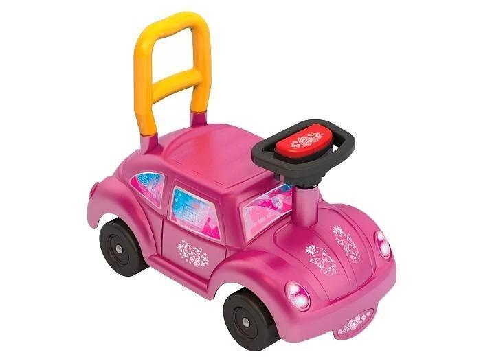 Каталка Нордпласт Go! Розовое чудоGo! Розовое чудоТакая каталка идеально подойдет к летнему сезону и обязательно порадует Вашего малыша.  У каталки удобное сиденье, устойчивые колёса, она подойдет как для улицы, так и для дома.Каталка имеет яркий дизайн, который непременно понравится маленьким принцессам. Имеются и руль, и спинка, так что ездить на ней удобно.  Каталка для детей, развивает координацию движений и способность ориентироваться в пространстве.  Предназначение: для игровых целей внутри помещения и на открытом воздухе.  Изготовлено из высококачественной пластмассы.<br>