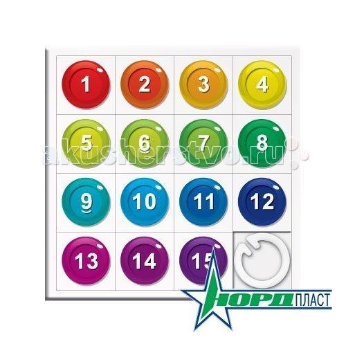 Нордпласт Логическая игра СобирашкиЛогическая игра СобирашкиСобирашки - классическая детская головоломка, в которую, кстати, с огромным удовольствием играют и взрослые. Это вариант известной всем нам игры Пятнашки.   Суть ее состоит в том, чтобы разложить костяшки с цифрами по порядку, не вынимая их при этом из коробочки. Эта игра отлично развивает логическое мышление, заставляя играющего просчитывать различные комбинации с перемещением цифр на несколько ходов вперед.   При производстве используется новое уникальное оборудование, позволяющее наносить яркое четкое изображение на костяшки, а особенность конструкции позволит сохранить рисунки в течение долгого периода времени даже при самой активной эксплуатации.  Поле состоит из 15 костяшек с цифрами.  Изготовлено из высококачественной пластмассы.<br>
