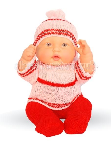 Огонек Пупс Оксанка 5 40 смПупс Оксанка 5 40 смКукла Оксанка в ползунках очень похожа на маленького ребенка, она очень приятная на ощупь и так и просится на ручки. Благодаря теплой одежке Оксанка не боится морозов и готова к катанию на саночках и игре в снежки!  Особенности: Кукла изготовлена из высококачественного винила Волосы нарисованы на виниле У куклы карие глазки без ресничек (не закрываются) Приоткрытый ротик Пухлые щечки Реалистичные складочки на коже У пупса подвижные ручки, ножки и голова Ее можно одевать и раздевать Малышку можно купать В приоткрытый ротик можно вставлять небольшую соску-пустышку Кукла отлично помещается в детскую колясочку  Одежда: Вязаные свитерок и ползунки Шапочка с помпоном в тон костюмчику Цвета одежды в ассортименте  Рост куклы: 40 см<br>