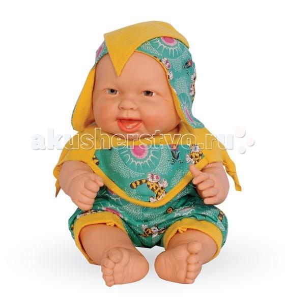 Огонек Пупс Данилка 2 40 смПупс Данилка 2 40 смКукла Данилка в летнем костюмчике очень похожа на маленького ребенка, она очень приятная на ощупь и так и просится на ручки.   Особенности: Кукла изготовлена из высококачественного винила Волосы нарисованы на виниле У куклы карие глазки без ресничек (не закрываются) Приоткрытый ротик Пухлые щечки Реалистичные складочки на коже У пупса подвижные ручки, ножки и голова Ее можно одевать и раздевать Малышку можно купать В приоткрытый ротик можно вставлять небольшую соску-пустышку Кукла отлично помещается в детскую колясочку  Рост куклы: 40 см<br>