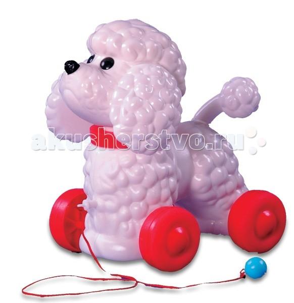 Каталка-игрушка Огонек собака Фафиксобака ФафикКаталка собака Фафик Огонёк изготовлена из высококачественного и прочного пластика.   Имеет надежное крепление колёс.   Эта каталка вызывает массу радостных эмоций у ребенка.   При движении каталка качает головой.  Размер 26 X 18 X 27 см.<br>