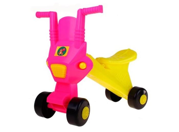 Каталка Огонек МишкаМишкаЭта симпатичная каталка станет первым транспортным средством малыша.   Ведь он еще так мал для велосипеда или самоката, а вот каталка подойдет в самый раз для подвижных игр на свежем воздухе или дома.   Игрушки-каталки способствуют физическому развитию малыша - развивают координацию движений и способность ориентироваться в пространстве.  Каталка Огонёк изготовлена из высококачественного и прочного пластика.   Размер 48х49х22 см<br>