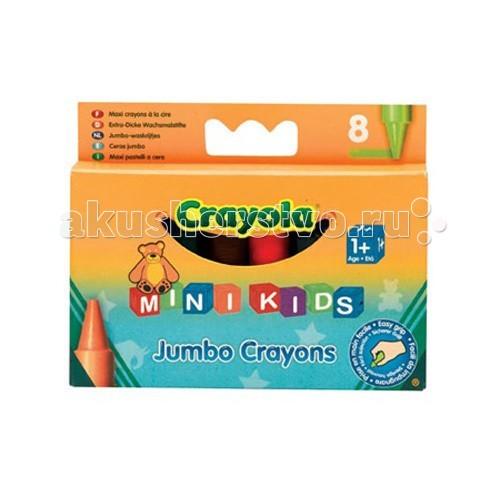 Crayola Mini Kids восковые для самых маленьких 8 шт.