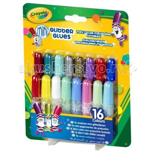 Crayola Смываемый клей с блестками 16 тюбиков