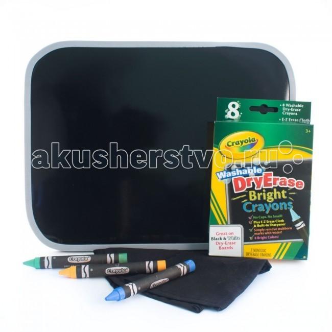 Crayola двусторонняя доска для рисования Dry Eraseдвусторонняя доска для рисования Dry EraseCrayola двусторонняя доска для рисования Dry Erase - от знаменитого бренда Crayola. Рисуйте и пишите на ней восковыми мелками, которые вы найдете в комплекте. Яркие цвета мелков помогут вам создать свой маленький личный шедевр. Кроме того, вместе с доской и мелками в наборе – точилка для мелков и тряпочка для очистки.   Доска и мелки созданы по новой технологии Dry Erase от Crayola, которая предполагает сухую очистку. Просто протрите поверхность сухой губкой, и она снова будет чистой. Никаких разводов и пятен, только легкая и быстрая очистка.  На этой доске так же можно писать и рисовать маркерами Dry Erase (они продаются отдельно).  Двусторонняя доска для рисования предназначена для детей от 3 лет.<br>