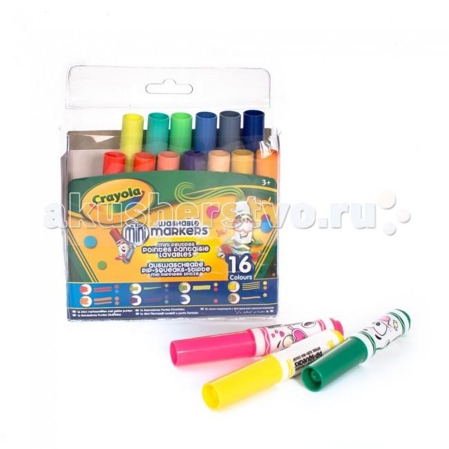 Фломастеры Crayola мини с узорными наконечниками 16  шт.