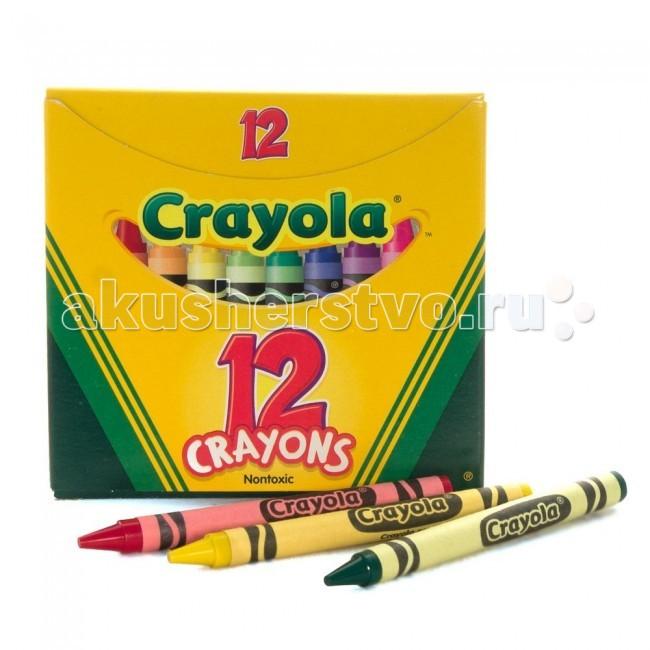 Crayola разноцветные восковые 12 шт.