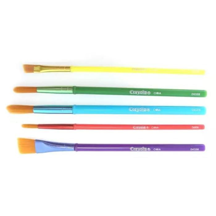 Crayola кисточки для красок 5 шт.кисточки для красок 5 шт.Crayola 5 кисточек для красок - в этом наборе вы найдете 5 кисточек Crayola для рисования красками. Благодаря разной толщине и форме этих кистей со сложными наконечниками ими можно рисовать различные линии, использовать не одну, а несколько техник рисования и получать разные эффекты.   Кисточки сделаны из натурального ворса. Высокое качество позволяет им долго служить своему владельцу. Юный художник будет доволен! Средняя длина кисти – 17 см.  Кисточки предназначены для детей в возрасте старше 3 лет.<br>