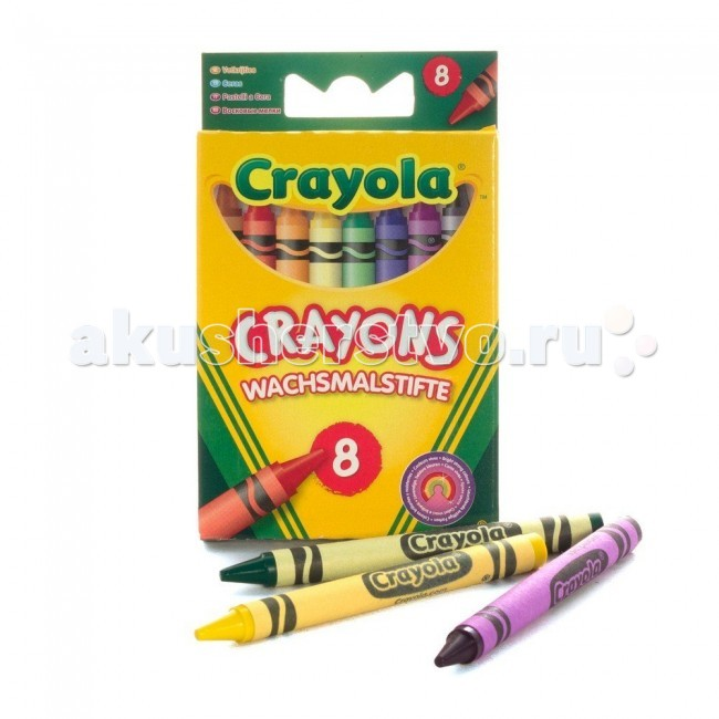 Crayola восковые для самых маленьких 8 шт.
