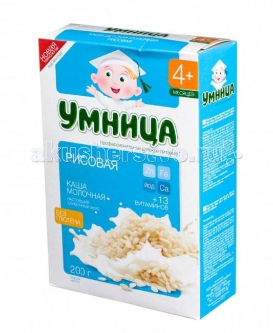 Сами с усами Умница Молочная Рисовая каша 4 мес. 200 г