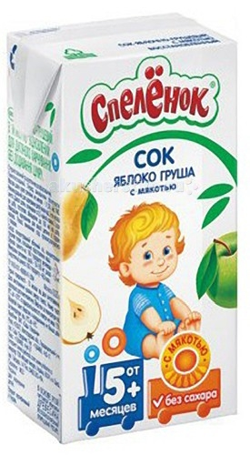 Спеленок Сок Яблоко-груша с мякотью с 5 мес. 125 мл