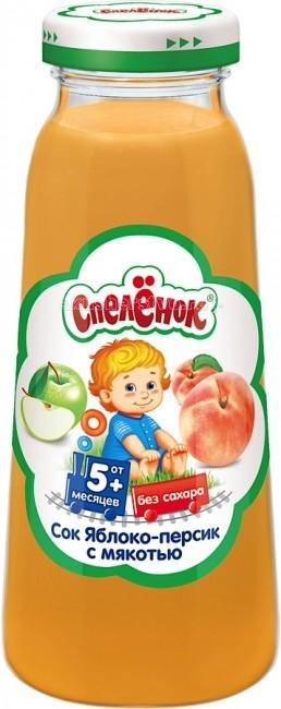 Спеленок Сок Яблоко-персик с мякотью с 5 мес. 200 мл