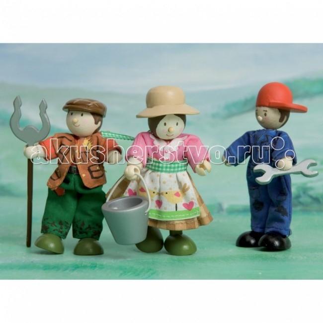 LeToyVan Набор ФермерыНабор ФермерыLeToyVan Набор кукол Фермеры.  Миниатюрные дизайнерские куколки, более 80 самых разных человечков с индивидуальным характером исполнения.  Королевская семья, волшебники и феи; отважные рыцари и морские пираты, фигурки-профессии футболисты, повар, уборщица, официантка, британский гвардеец и другие; персонажи из истории, фантазийные герои и герои сказок; ангелы, танцовщицы и много других. Смотреть всех героев Budkins.  Вы сможете подобрать куклу и подарить ее ребенку и даже взрослому. Деревянные куколки с одеждой из ткани Ручки и ножки гнутся Индивидуальная подарочная упаковка Подарок для ребенка, красивый сувенир для взрослого, пополнение для коллекционерa. Каждая кукла по особенному индивидуальна. Одета в очень красивую одежду с аксессуарами и атрибутами.  В куклы можно играть сочетая с игровыми наборами Le Toy Van; размер кукол, форма и дизайн специально разработаны, например: набор кукол Пожарные + Пожарная машина и игровой набор Пожарная станция; набор кукол Строители + игровой набор Дорожная техника куклы сказочных героев + кукольный замок куклы-пираты + пиратский корабль куклы-рыцари + замок для мальчика с аксессуарами.  Для взрослого человека сувенирная куколка может стать подарком к празднику или встрече. приятный и радостный подарок на 8 Марта или 23 февраля нетрадиционный подарок на день рождение как знак внимания подарок на Новый год волшебных героев из сказок тематический сувенир для профессиональной деятельности пожарные, строители, врачи, учителя, футболисты, охранники.  Куклу Budkins приятно получить в подарок на любой праздник. Оригинально, очень красиво, вызывает только приятные эмоции и радостное настроение, индивидуально, неизбито, а самое главное незабываемо.<br>