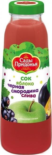 Сады Придонья Сок Яблоко, черная смородина, слива с 8 мес. 300 мл