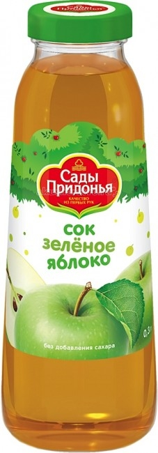 Сады Придонья Сок Яблоко зеленое с 3 мес. 300 мл