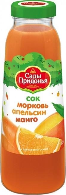 Сады Придонья Сок Морковь, апельсин, манго с 12 мес. 300 мл