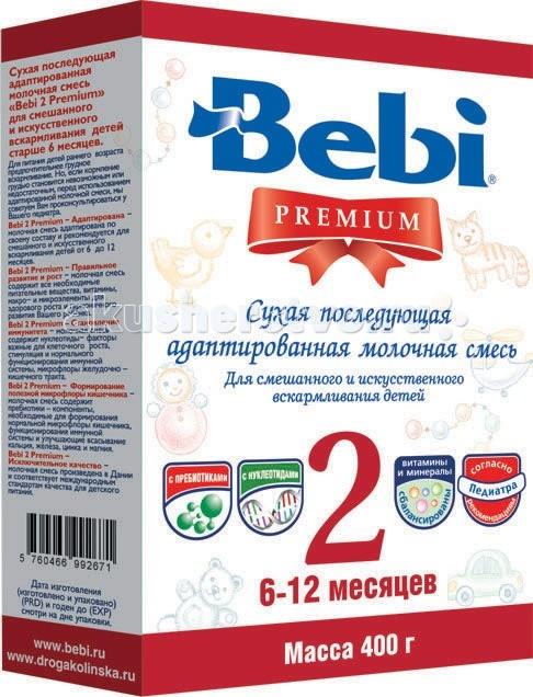 Bebi Заменитель Premium 2 с 6 мес 400 г (картон)