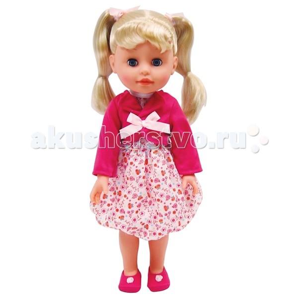 Карапуз Кукла 40 смКукла 40 смКукла Карапуз 40 см станет любимой в коллекции вашей малышки.   Во время игры в дочки-матери девочка научится заботе и попробует роль, которую ей предстоит выполнять в будущей, взрослой жизни.   Особенности: У куколки красивые волосы, их можно расчесывать и делать различные прически. Нажми на кнопку на груди куколки, и она споет 2 любимые песенки на музыку композитора в. Шаинского и расскажет 3 стихотворения Е. Благининой.  Цвета в ассортименте<br>