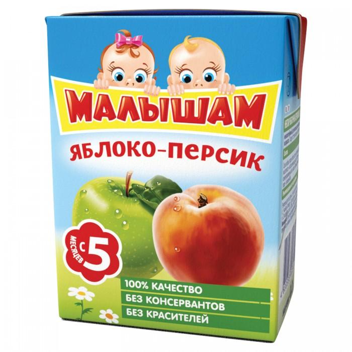 ФрутоНяня Малышам Нектар Яблоко с персиком с 5 мес. 200 мл