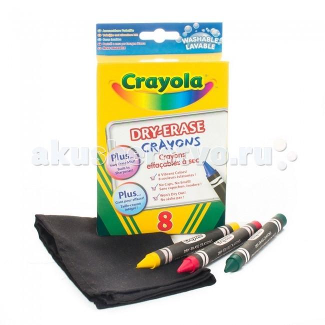 Crayola восковые легко стирающиеся 8 шт.восковые легко стирающиеся 8 шт.Мелки Crayola восковые легко стирающиеся 8 шт. - в этом наборе с 8 восковыми мелками Crayola вы найдете также точилку и специальную рукавичку для стирания. Нарисованное такими мелками действительно легко удалить: просто протрите поверхность рукавичкой, и на ней не останется грязных разводов.   Мелки рисуют яркими линиями, хорошо ложатся на поверхность, не оставляя непрокрашенных областей и полос даже при смешивании цветов. В наборе вы найдете красный, голубой, зеленый, оранжевый, желтый, фиолетовый, коричневый и черный мелки большого размера.  При изготовлении этих принадлежностей для рисования использованы только безопасные компоненты и красители. Они не токсичны, не вызывают аллергии, не имеют специфического запаха, свойственного многим восковым мелкам, и не засыхают.   Такими мелками могут рисовать дети старше 3 лет.<br>