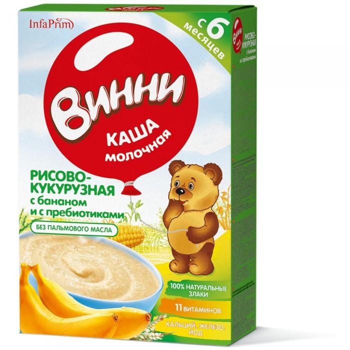 Винни Молочная Рисово-кукурузная каша с пребиотиками с бананом