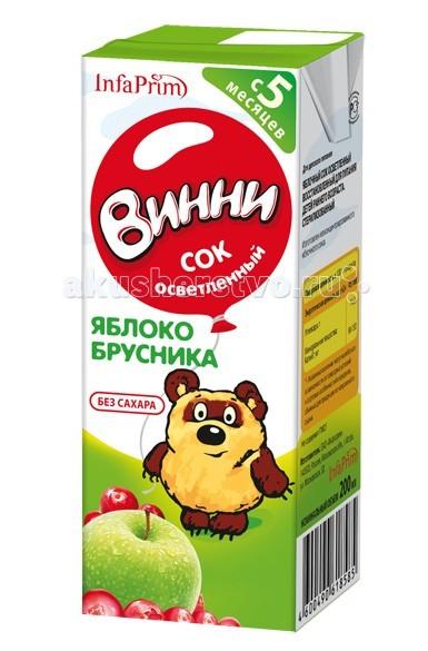 Винни Сок осветленный Яблоко-брусника 200 мл