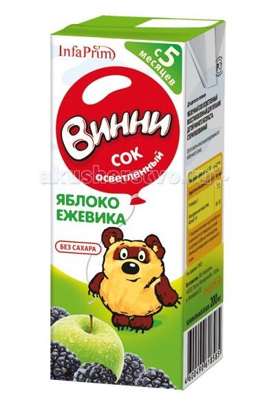Винни Сок осветленный Яблоко-ежевика 200 мл