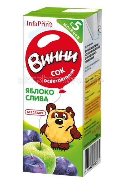 Винни Сок осветленный Яблоко-слива 200 мл