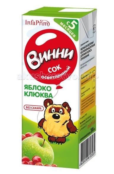 Винни Сок осветленный Яблоко-клюква 200 мл