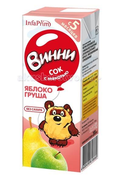 Винни Сок с мякотью Яблоко-груша 200 мл