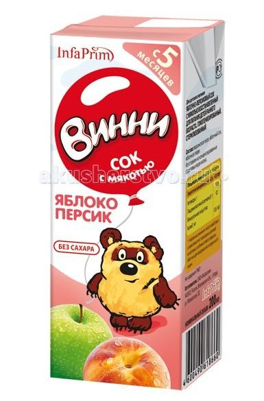 Винни Сок с мякотью Яблоко-персик 200 мл
