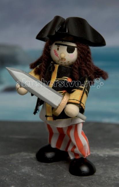 LeToyVan Кукла Одноглазый пиратКукла Одноглазый пиратLeToyVan Одноглазый пират.  Миниатюрные дизайнерские куколки, более 80 самых разных человечков с индивидуальным характером исполнения.  Королевская семья, волшебники и феи; отважные рыцари и морские пираты, фигурки-профессии футболисты, повар, уборщица, официантка, британский гвардеец и другие; персонажи из истории, фантазийные герои и герои сказок; ангелы, танцовщицы и много других. Смотреть всех героев Budkins.  В куклы можно играть сочетая с игровыми наборами Le Toy Van; размер кукол, форма и дизайн специально разработаны, например: набор кукол Пожарные + Пожарная машина и игровой набор Пожарная станция набор кукол Строители + игровой набор Дорожная техника куклы сказочных героев + кукольный замок куклы-пираты + пиратский корабль куклы-рыцари + замок для мальчика с аксессуарами. Для взрослого человека сувенирная куколка может стать подарком к празднику или встрече. приятный и радостный подарок на 8 Марта или 23 февраля нетрадиционный подарок на день рождение как знак внимания подарок на Новый год волшебных героев из сказок тематический сувенир для профессиональной деятельности пожарные, строители, врачи, учителя, футболисты, охранники Куклу Budkins приятно получить в подарок на любой праздник. Оригинально, очень красиво, вызывает только приятные эмоции и радостное настроение.<br>